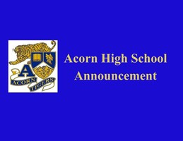 Acorn High School Virtual Awards Ceremony with Mr. Dewayne Taylor