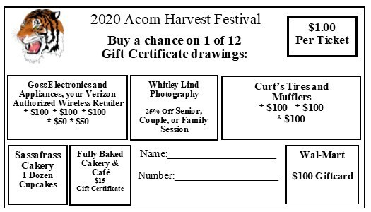 Acorn High School Harvest Festival Ticket