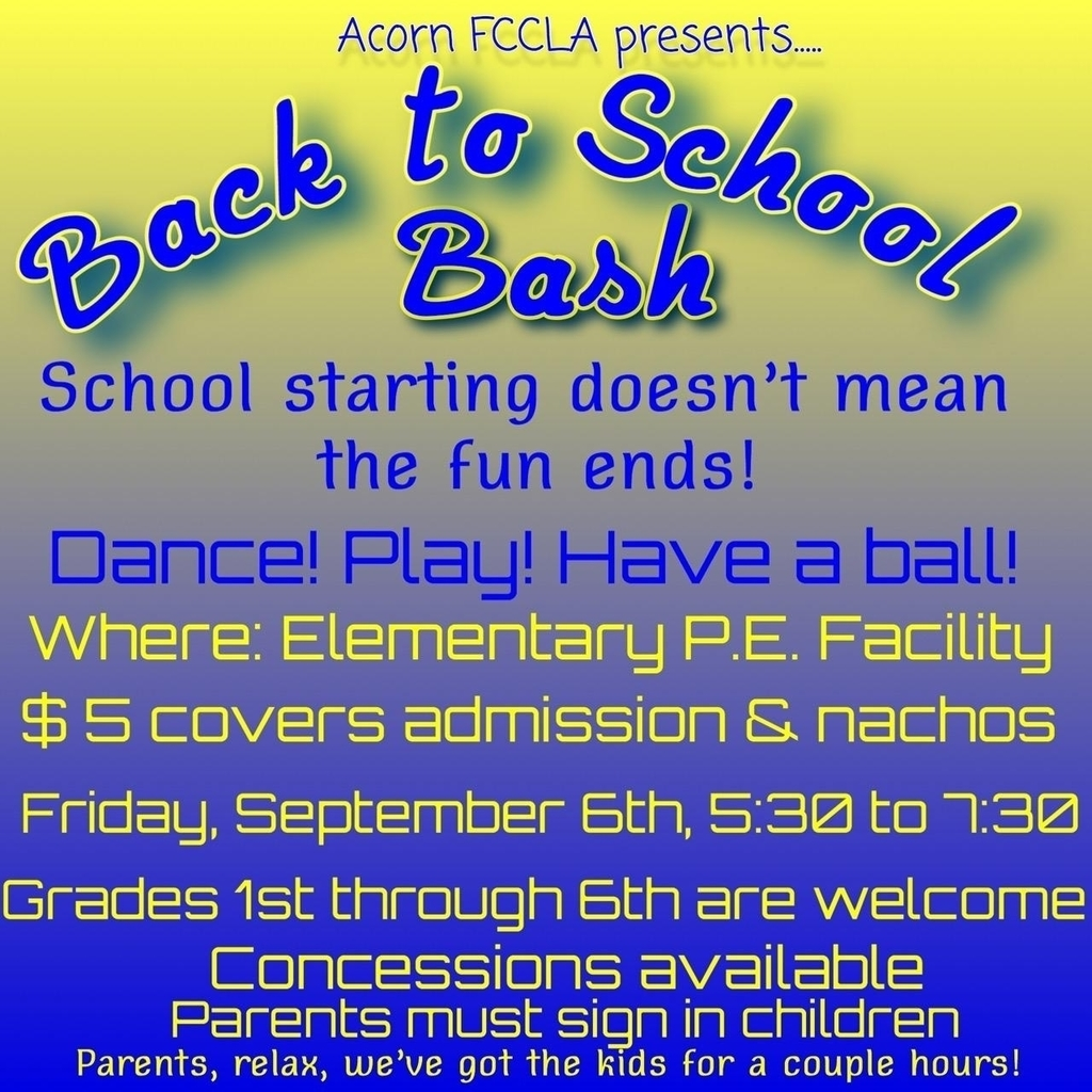 Back to School Dance, grades 1st-6th, 9/6