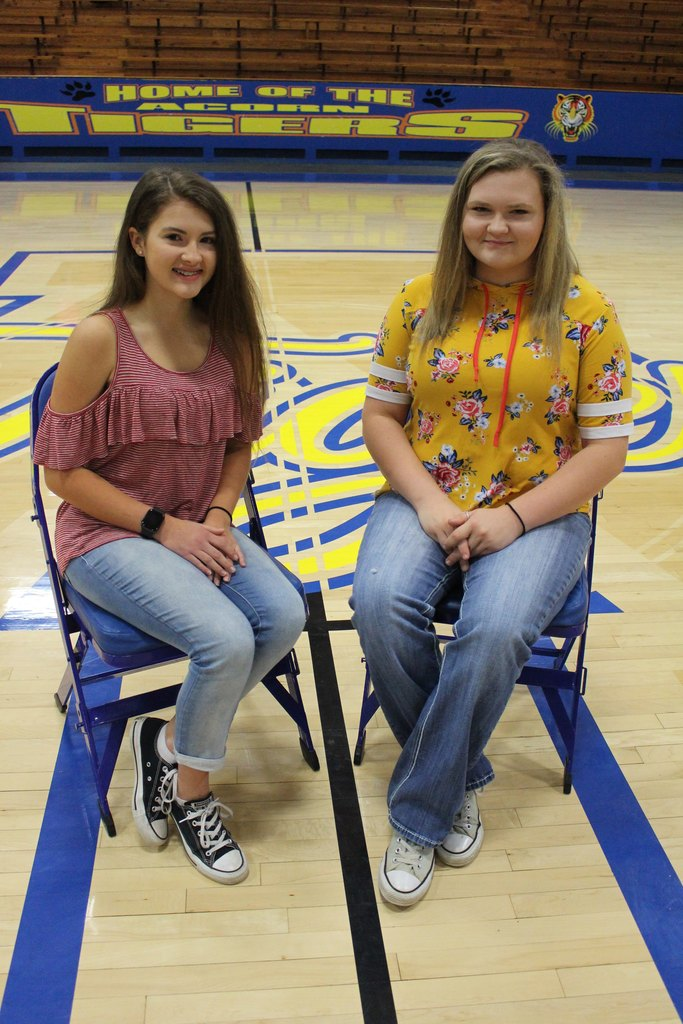 Freshman Maids: Jayden Willborg and Ericka Holiday
