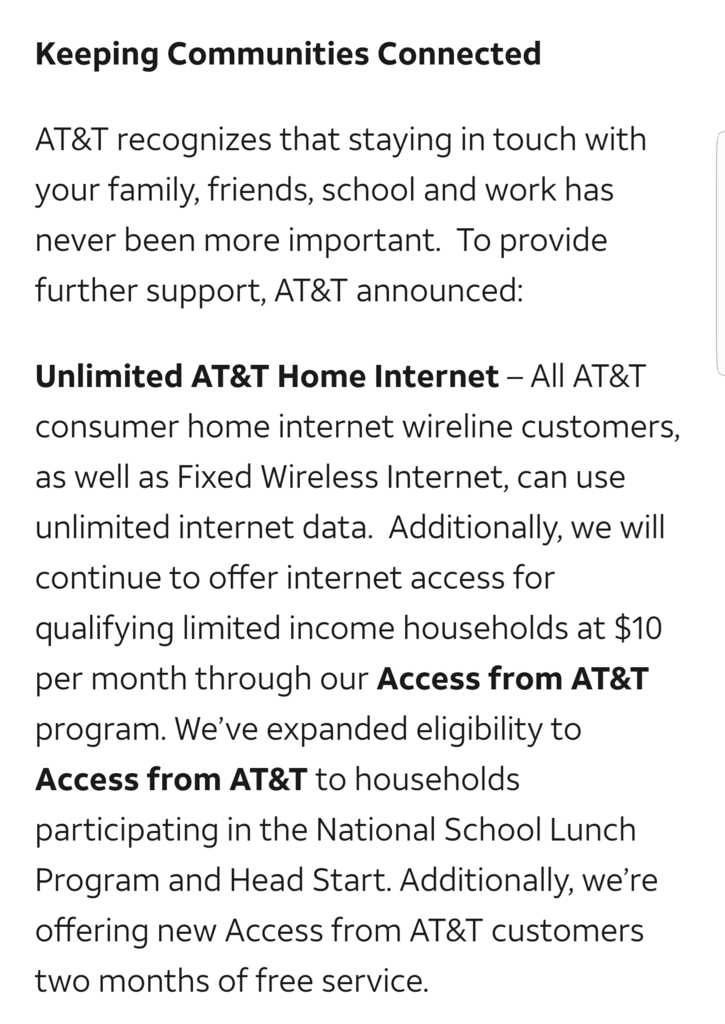 AT&T Announcement