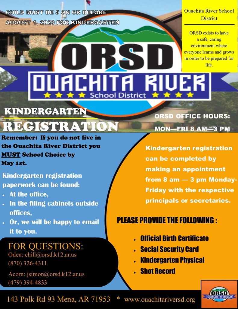 2021 Kindergarten Registration flyer