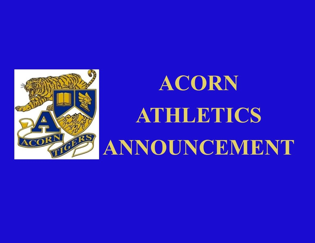Acorn Athletics Announcement
